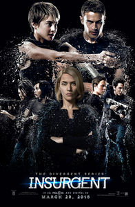 Theo with his co-stars on the Insurgent poster<3