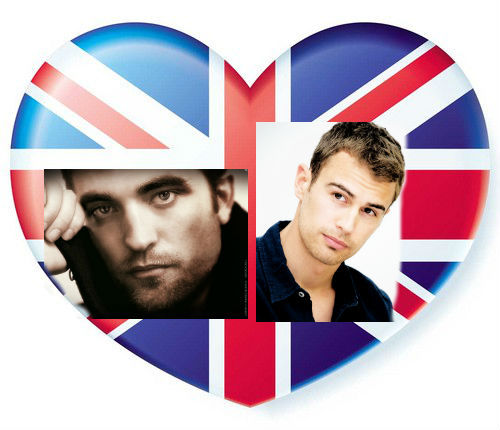 my 2 fave sexy British men Robert Pattinson and Theo James<3