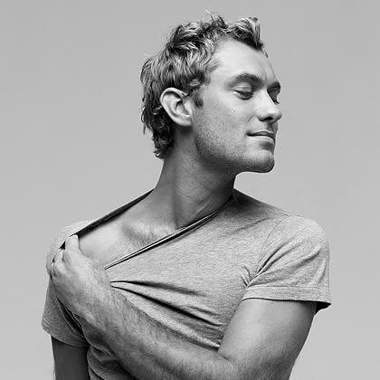 Jude Law with hair on his arms<3