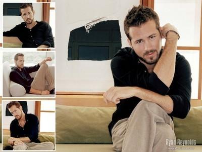 Ryan Reynolds with stubble<3