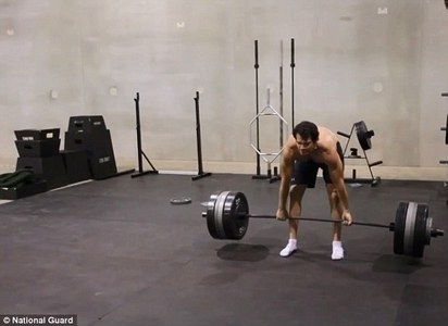 Henry lifting heavy weights<3
