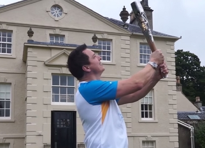 John with the queens torch :D