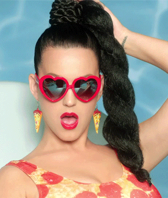 Katy with cool shades:)