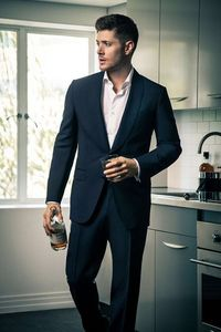 my hot babe in a navy blue suit