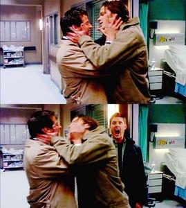 """LOL Jensen's face! Like """"Get off my angel"""""""
