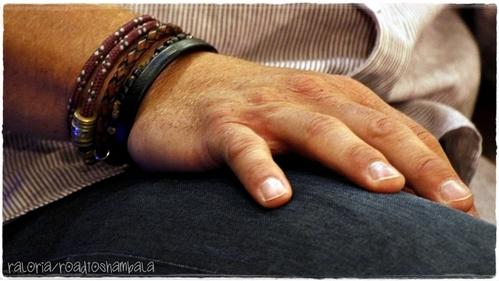 J's hand