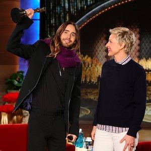 Jared on Ellen just after winning his Oscar<3