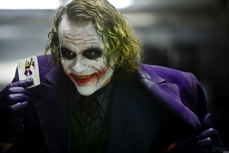 the late Heath Ledger as the Joker in The Dark Knight<3