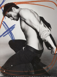 Jamie with his hand behind his back<3