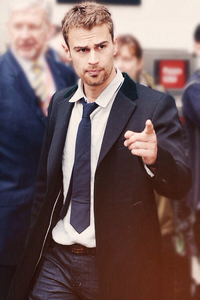 my sexy Theo pointing at us<3