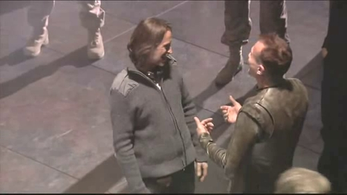 Bobby and Rob on set Stargate Universe <3333333333