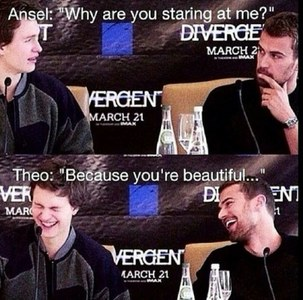 Theo and Ansel...2 beautiful men<3