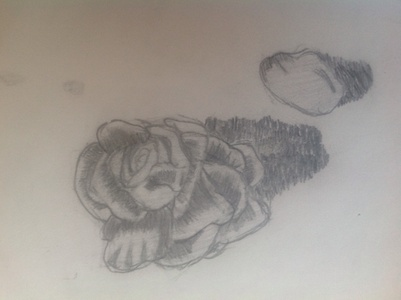 I'm quite the writer usually, also my best talent is art. BTW. This is one of my drawings in 7th grade.