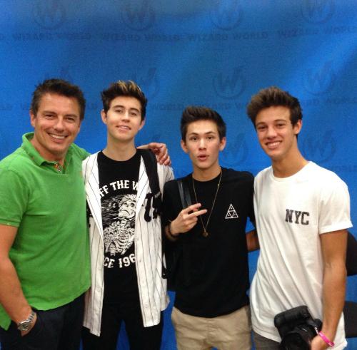 John with some Magcon boys.