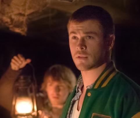 Chris Hemsworth in a green jacket<3