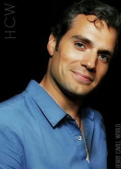 Henry in a nice blue shirt<3