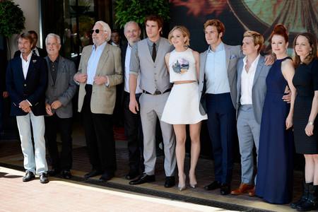 Liam with his Mockingjay co-stars<3