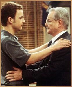 Ben Savage looking at his teacher, Mr. Feeny (William Daniels) :)