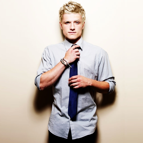 Josh with blonde hair<3