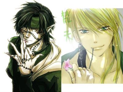 Hakkai from Saiyuki and Bonten from Amatsuki