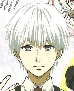 Ken kaneki from tokyo ghoul badass,kind,caring and protect his friends and awesome