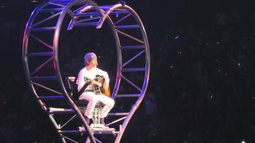 Justin from one of his concerts<3