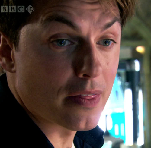 John is a real life superhero but here, hes playing Captain Jack Harkness!