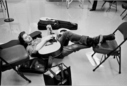 Garrett with a guitar<3