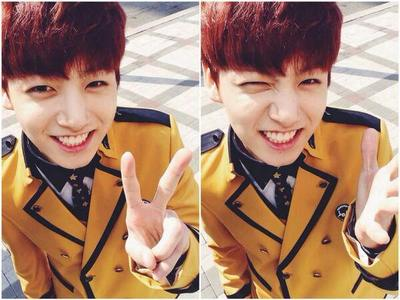 Jungkook,my ULTIMATE bias! cuz he's like the cutest thing ever! and I've never knew anyone who is talented as him.He can sing,dance, and rap! and is cute even if not doing aegyo.He can also pronounce English words properly even if he is not fluent in it. I amor him VERY much ♥ JUNGKOOK FIGHTING!!!