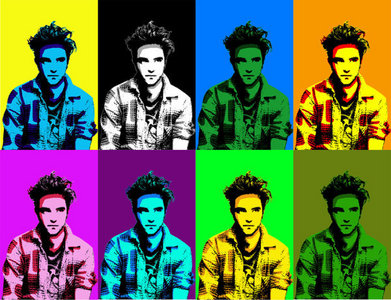 my handsome babe with lots of colored backgrounds<3