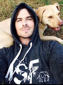 Ian with his dog 2014!
