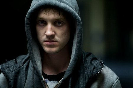 Tom Felton with a hood<3