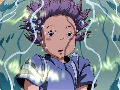 Chihiro under water in Spirited Away