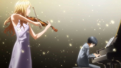 Shigatsu wa Kimi no Uso. Even though it's still airing I already upendo this series ~