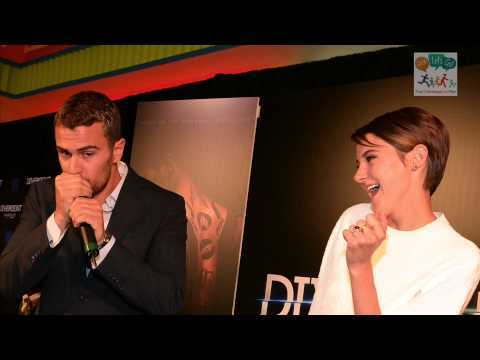 Theo James can sing and beatbox.Here's a pic of my sexy Theo beatboxing with Shailene looking on<3