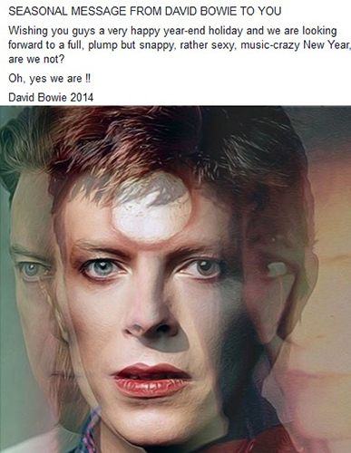 a rare message from Bowie <3333 can't wait for inayofuata mwaka