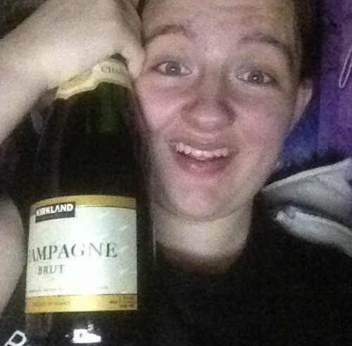 John gave me this champagne at panto on natal Eve<3 hhbashbsahjasjdhsa he's so freaking amazing!