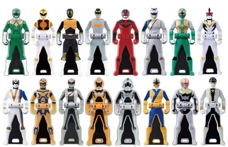 I collect Power Ranger Keys!