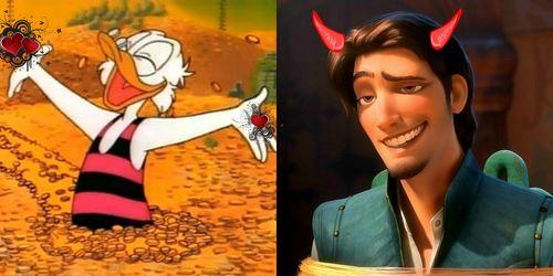 Favorite: Scrooge McDuck Least Favorite: Flynn Rider