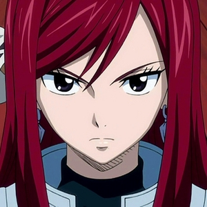 Erza Scarlet from fairy tail . This is not the best picture I could put but I could not put the other one so you can write her name on the internet and see more pictures . By the way it's a great anime you should watch it !!!!!!!!!!!