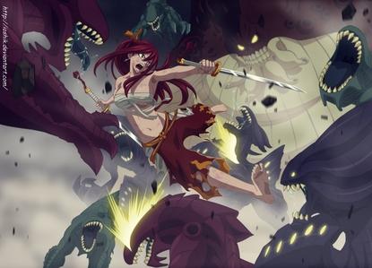 Erza Scarlet,Titania,Slayer of 100 monsters
