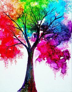 arcobaleno albero
