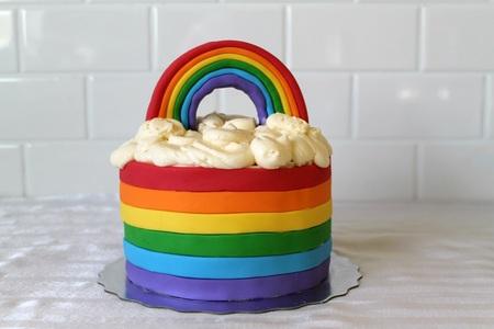 a arcobaleno cake