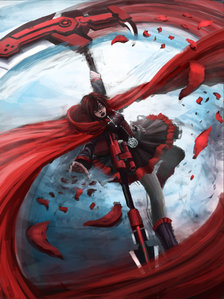 Ruby Rose-based off Little Red Riding kap, hood from RWBY oleh Rooster Teeth