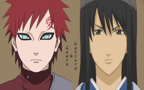 Gaara (Naruto) & Katsura (Gintama)