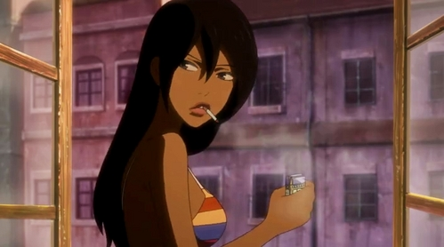 "Michiko from ""Michiko to Hatchin"". It's not everyday that you see a black character as the lead in an anime, so it's one of the many things that makes the ipakita so great."