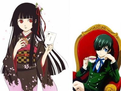 Ciel Phantomhive and Ai Enma is are both voiced sa pamamagitan ng Brina Palencia in the English dubs.