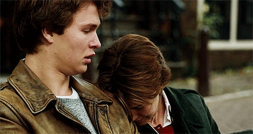 Ansel crying in a scene from TFIOS:(