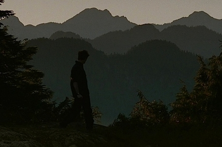 my gorgeous Robert with mountains in the distance<3