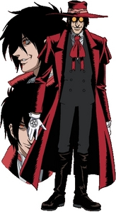 alucard from hellsing some he has short and some he has long u will understand if u ever seen hellsing